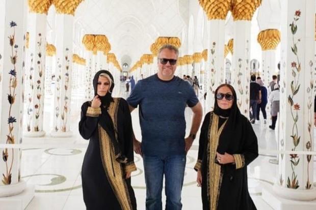 Susana Vieira se veste como muçulmana e visita maior mesquita de  Abu Dhabi