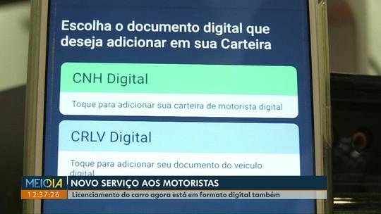 Licenciamento do carro agora também está disponível na versão digital