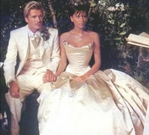 David Bechkam e Victoria Beckham no casamento (Foto: Reprodução Instagram)