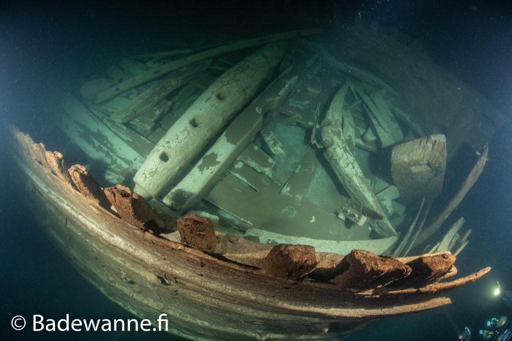 Navio holandês afundado no século 17 é encontrado quase intacto na Finlândia (Foto: Badewanne)