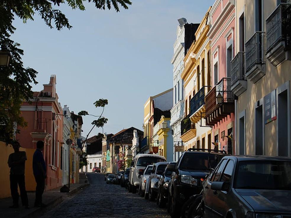 Cidade Alta, em Olinda, é um dos locais que recebem reforço no policiamento (Foto: Luna Markman / G1)