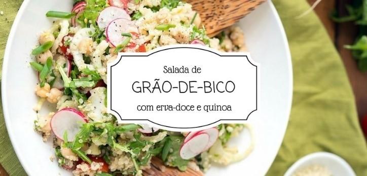 Salada de grão-de-bico com erva doce e quinoa (Foto: divulgação)