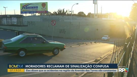 Moradores de São José dos Pinhais reclamam de sinalização de trânsito confusa