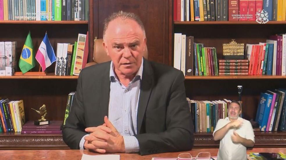 Governador explica nova Matriz de Risco adotada para o ES — Foto: Reprodução/ TV Gazeta