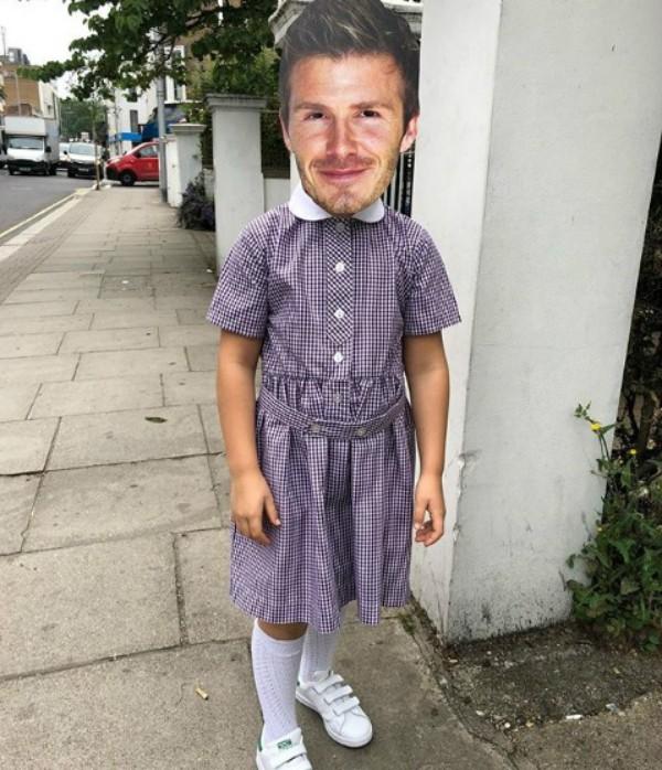 Harper com máscara de David Beckham  (Foto: Reprodução Instagram)