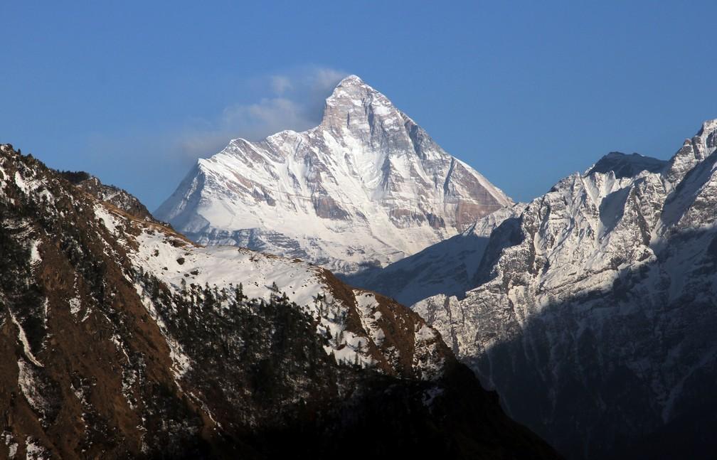 Oito alpinistas estão desaparecidos na montanha Nanda Devi, no Himalaia — Foto: Reuters