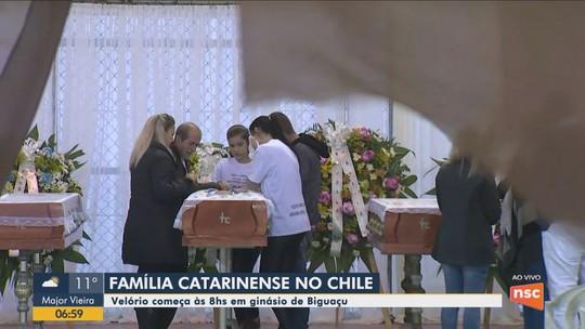 Velório de família brasileira morta por intoxicação de gás no Chile ocorre nesta terça em SC