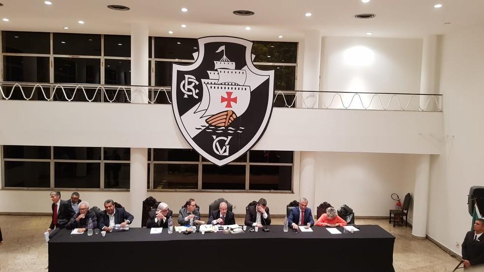 Votação reforma do Estatuto do Vasco Sede Náutico — Foto: Hector Werlang/GloboEsporte.com