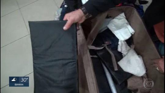 PF prende dois com 8 quilos de cocaína em fundo falso de mala no Aeroporto Internacional do Recife