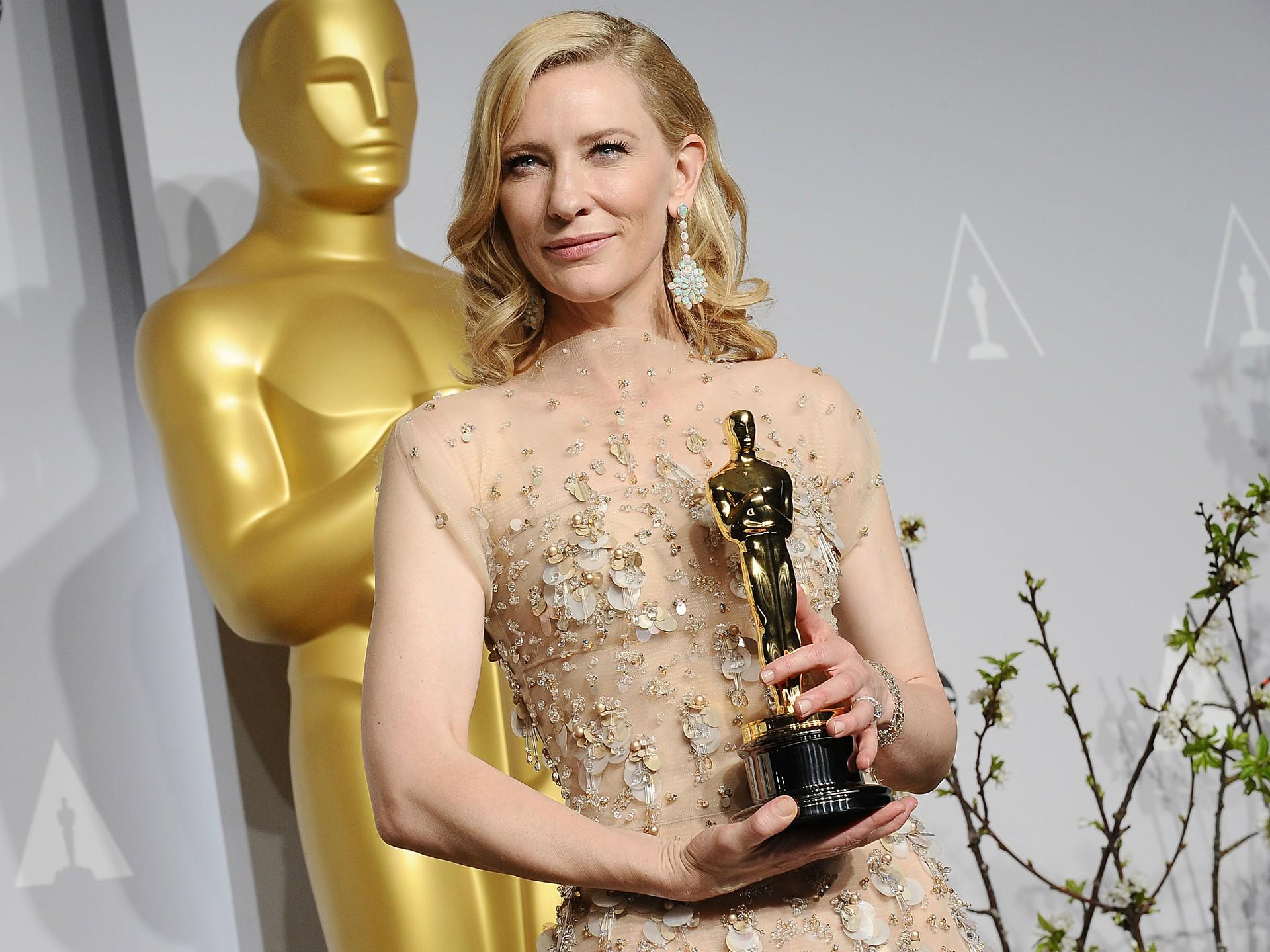 Cate Blanchett nos bastidores da cerimônia do Oscar. (Foto: Getty Images)