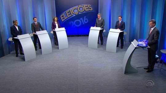 Candidatos a prefeito de Porto Alegre comparam propostas na RBS TV