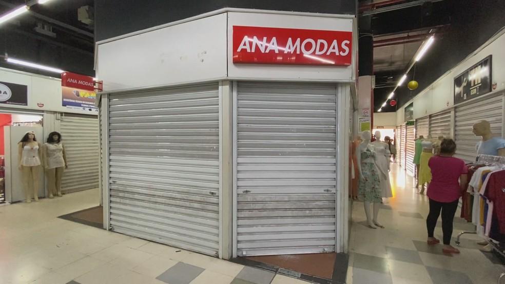 Fachada da loja Ana Modas, no Shopping Uai, em Belo Horizonte — Foto: Reprodução/TV Globo