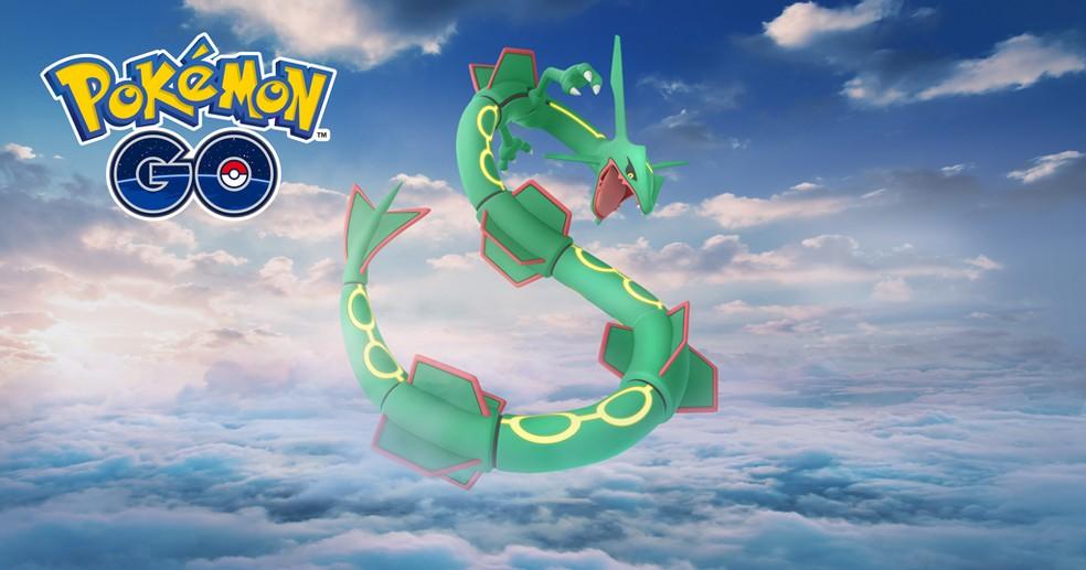 Rayquaza é o atual melhor Pokémon do tipo dragão — Foto: Divulgação/Pokémon GO