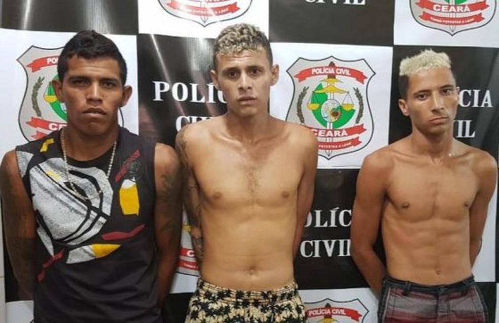 Os três detidos trabalhavam interpretando super-heróis em Fortaleza — Foto: SSPDS/Divulgação