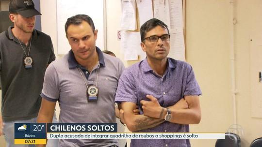 Chilenos acusados de roubar shoppings do Rio e SP são soltos