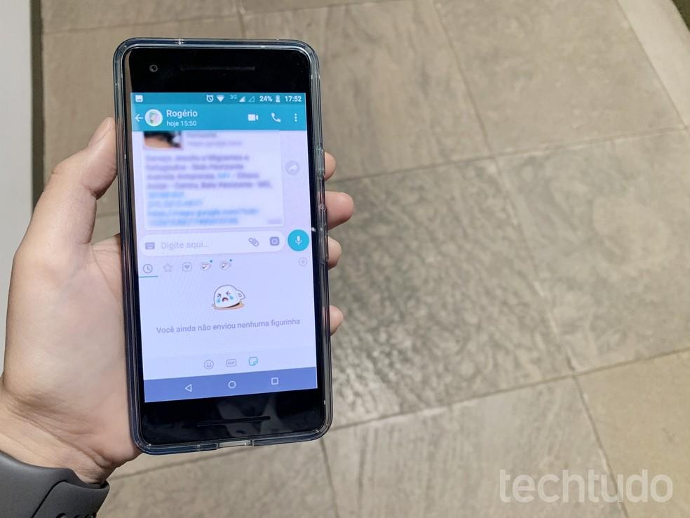WhatsApp passa a suportar figurinhas animadas do Gboard; veja como usar — Foto: Anna Kellen Bull/TechTudo