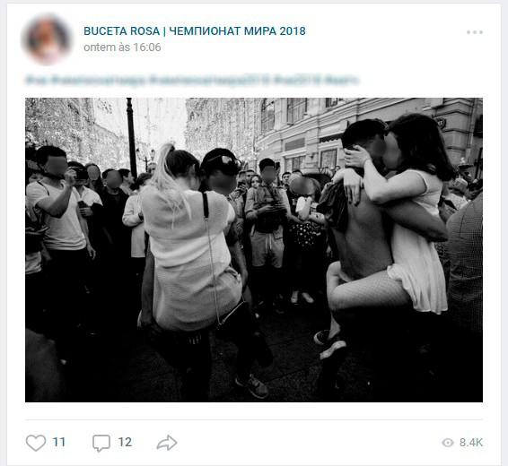 Homens postam fotos de mulheres russas com estrangeiros para identificá-las e persegui-las (Foto: Reprodução/VKontakte)