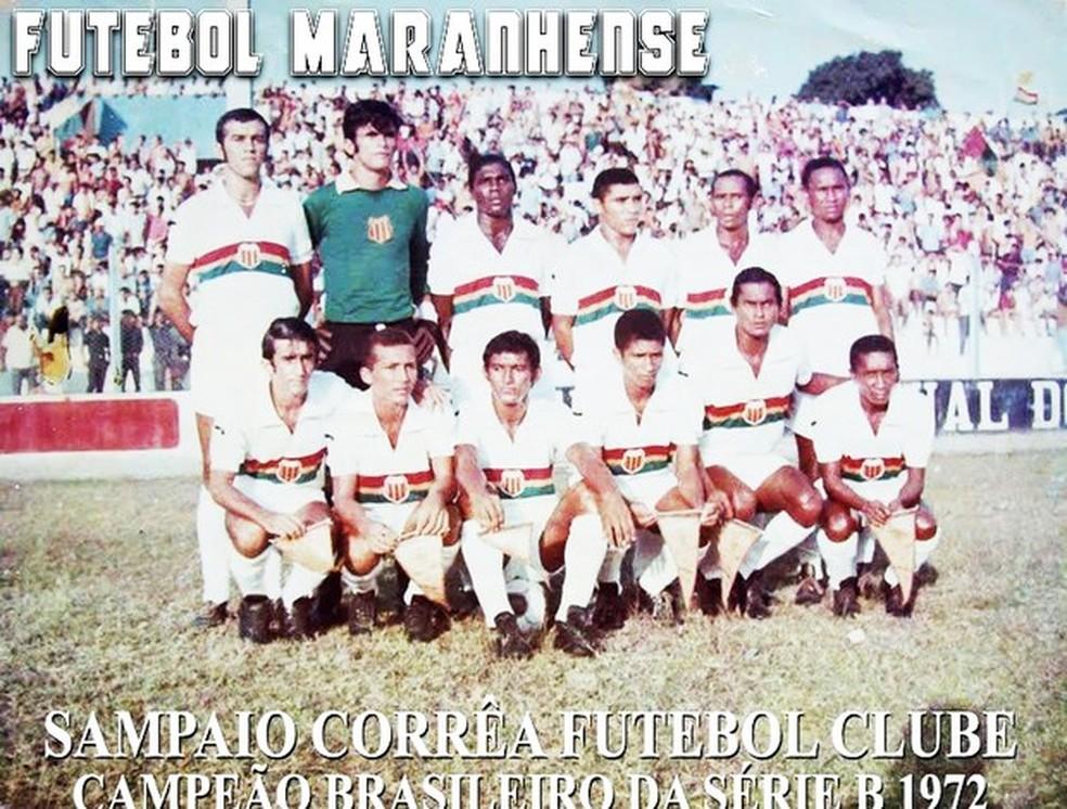 Sampaio foi campeão nos pênaltis em 1972 e teve artilheiro da competição — Foto: Sampaio / Divulgação