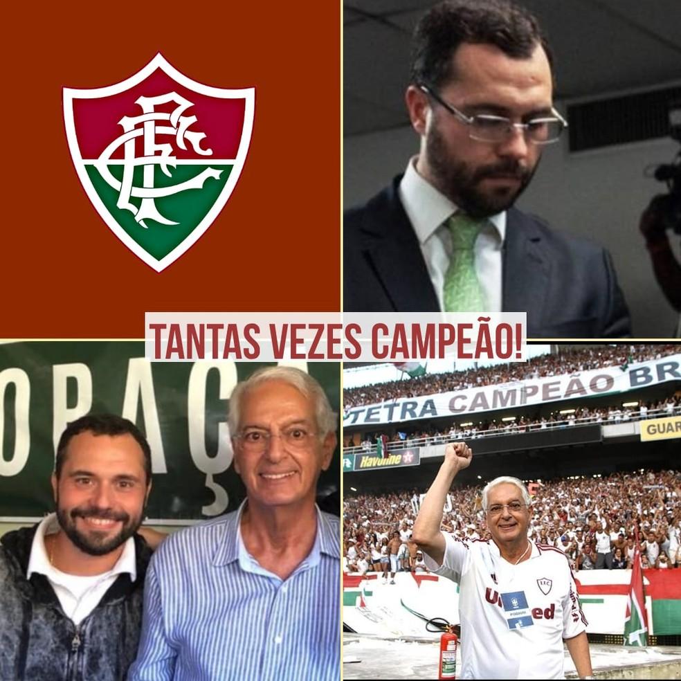 Mário Bittencourt concorrerá à presidência do Fluminense ao lado de Celso Barros — Foto: Divulgação
