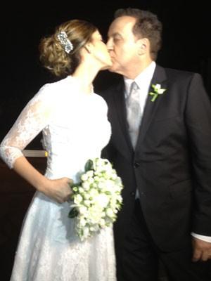 Carlinhos Cachoeira se casa com Andressa Mendonça, em Goiânia (Foto: Carolina Simiema/G1)