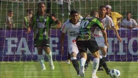 Desafio do América-MG: quebrar jejum de sete anos sem vencer o Corinthians pelo Brasileiro