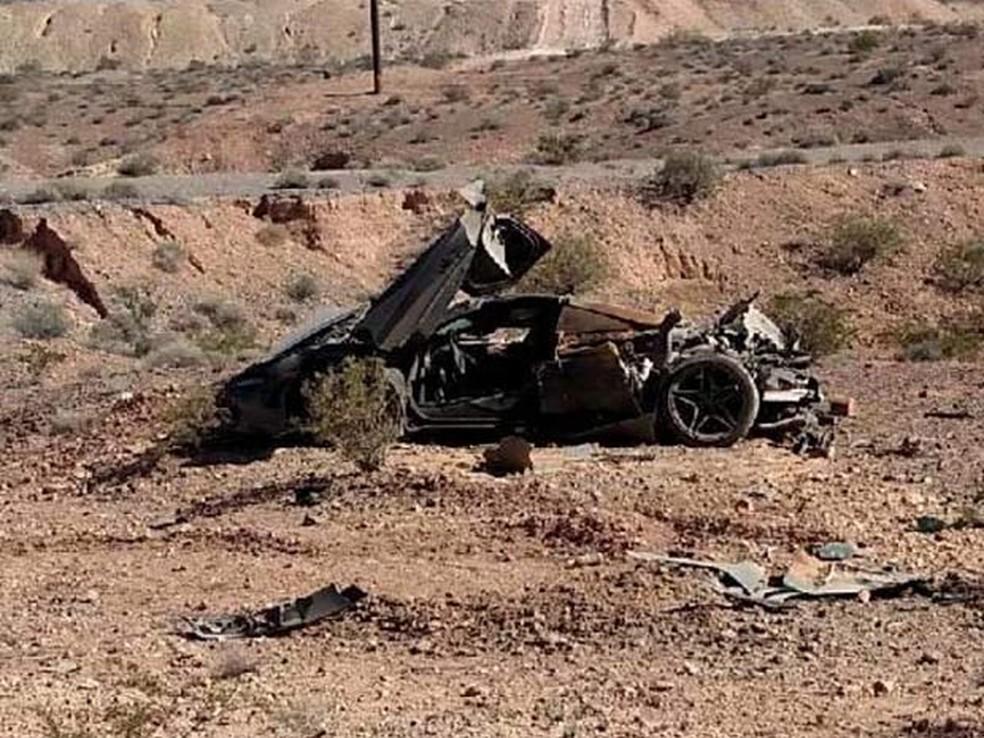 -  McLaren 720S encontrada no deserto de Nevada  Foto: Reprodução/NHP Southern Command