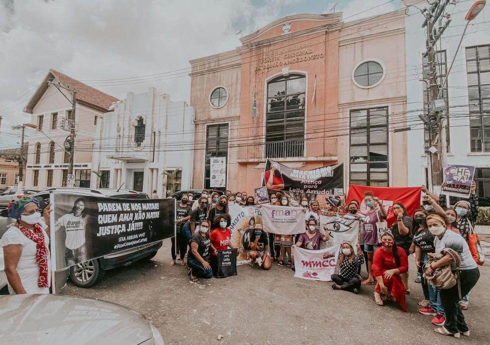 Julgamento do caso 'Leila Arruda' é marcado por manifestação em Belém. — Foto: Reprodução