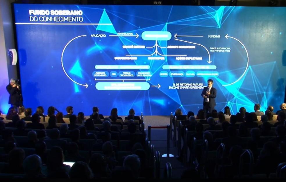 Secretário de Educação Superior do MEC, Arnaldo Barbosa de Lima Júnior, apresenta detalhes do programa Future-se — Foto: Reprodução/Facebook/Ministério da Educação - MEC