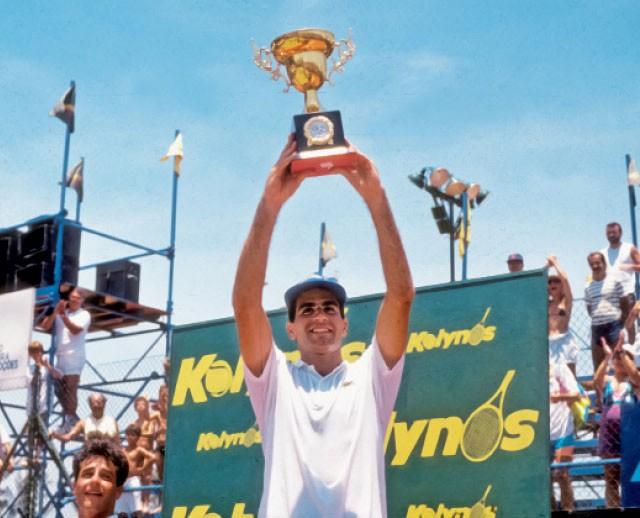 Luiz Mattar, vencedor do Torneio Aberto de Tênis do Rio de Janeiro, em 1990 (Foto: Eurico Dantas/Agência O Globo )