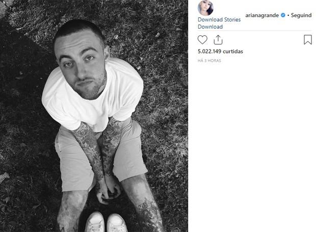 Ariana Grande posta foto do ex Mac Miller (Foto: Reprodução/Instagram)