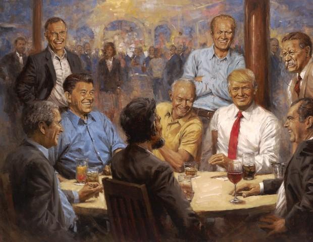 Imagem do quadro de Donald Trump, criado por Andy Thomas (Foto: reprodução)