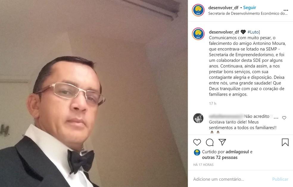 Antonino Moura, copeiro do GDF que foi assassinado a facadas — Foto: Instagram/Reprodução