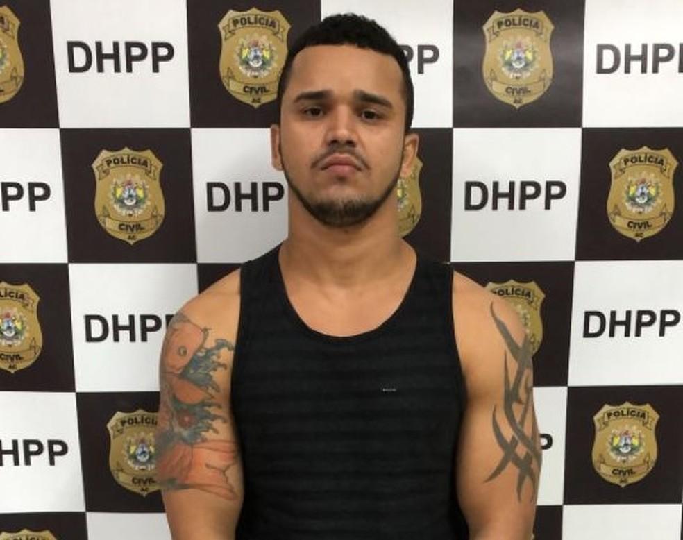 Suspeito estava foragido desde 2019, quando foi preso pela primeira vez — Foto: Divulgação/Polícia Civil do Acre