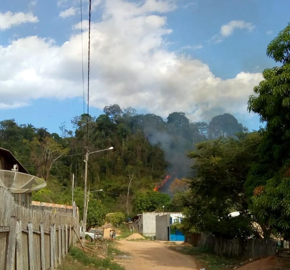 Avião pega fogo após pouso forçado no Pará. (Foto: Reprodução / Polícia Civil)