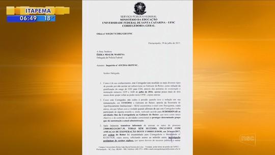 Corregedoria da UFSC havia pedido afastamento de reitor antes de operação, aponta inquérito