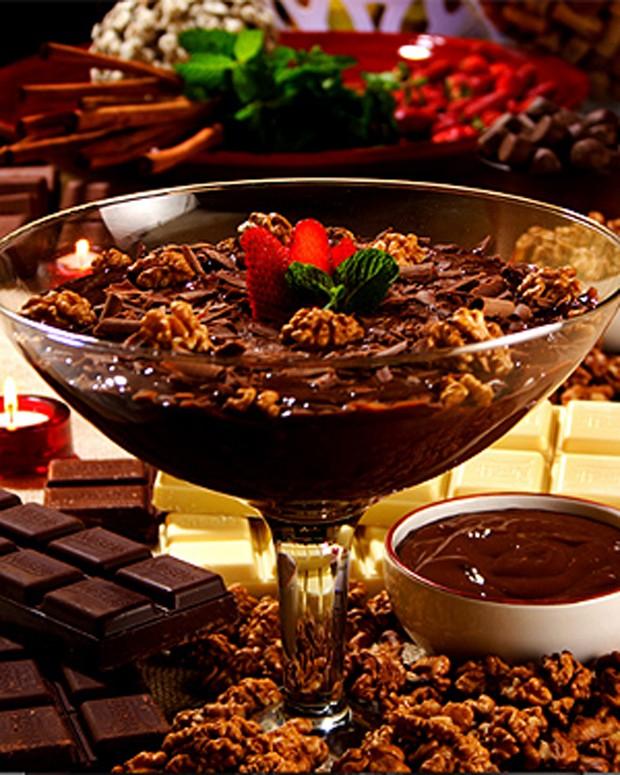 Estrogonofe de chocolate com cachaça (Foto: Fred Alcântara/Divulgação)