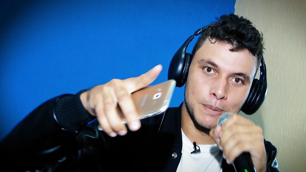 uciano D10 produziu música para Marta — Foto: Reprodução/TV Cabo Branco.
