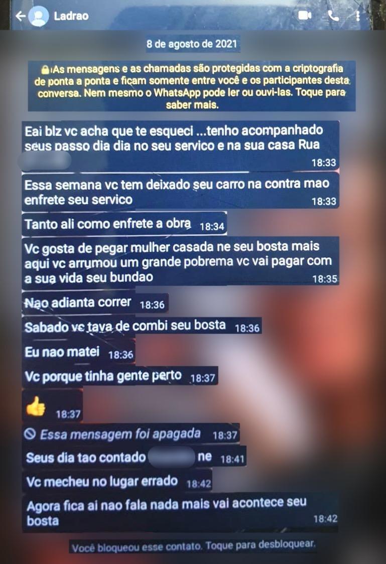 Ex-amante cria 'fake' para matar atual amante de mulher casada em SP: 'Não adianta correr'