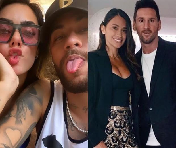 Neymar e Bruna Biancardi vão a jantar com Messi e Antonela Roccuzzo (Foto: Reprodução/Instagram)