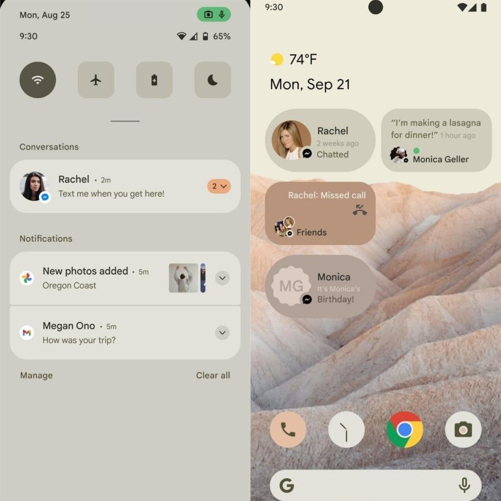 Android 12 deve ter interface modificada e novos widgets — Foto: Reprodução/9to5Google