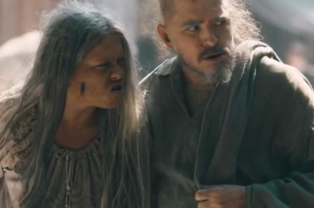 Germana (Vivianne Pasmanter) e Licurgo (Guilherme Piva) em 'Nos tempos do Imperador' (Foto: TV Globo)