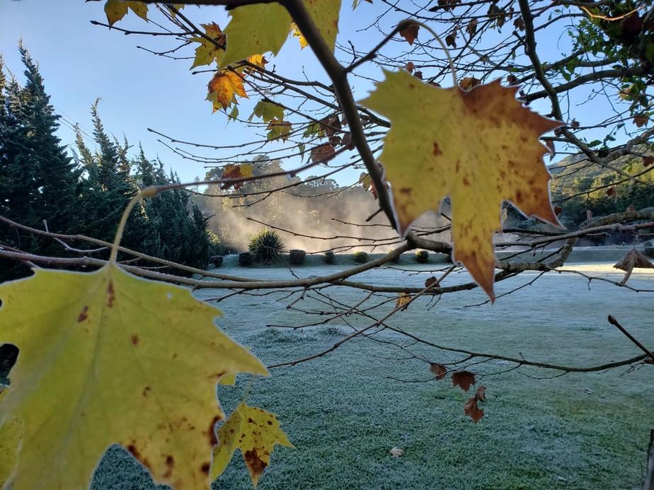Frente fria traz chuva e pode derrubar temperaturas para até -2ºC no Sul de MG