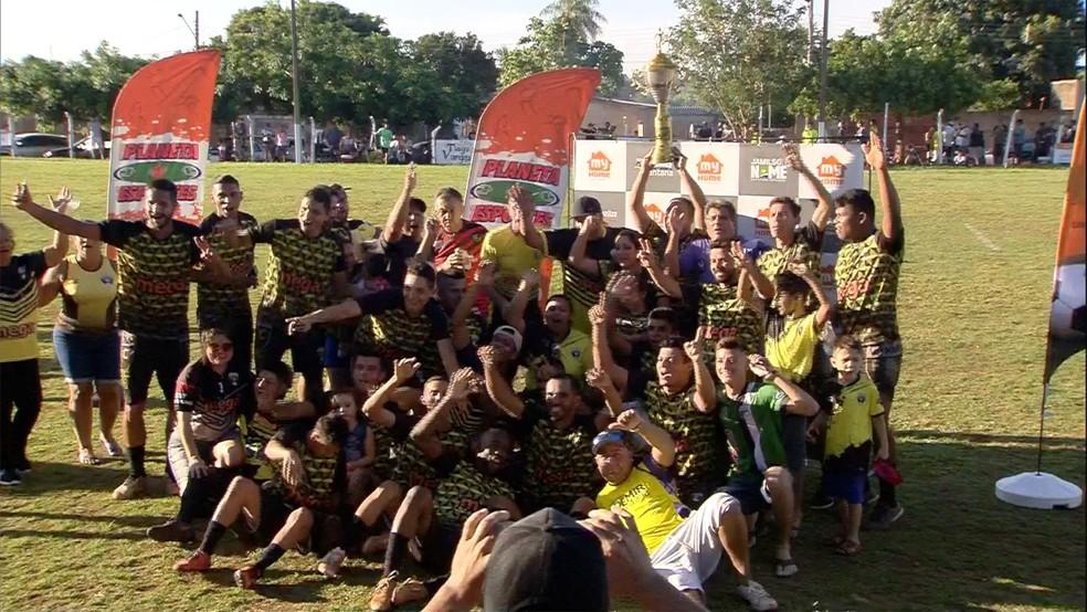 Vó Maria/Mega Stands foi o campeão da região sul da Liga Terrão — Foto: TV Morena/Reprodução