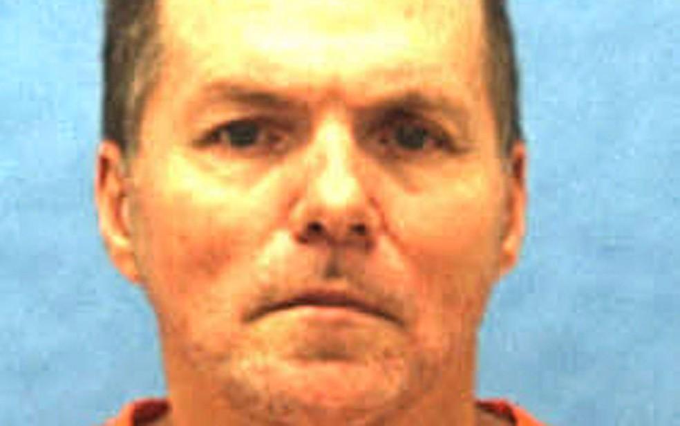 Foto não datada de Mark Asay, executado na Flórida na quinta (24) (Foto: Florida Department of Corrections via AP)