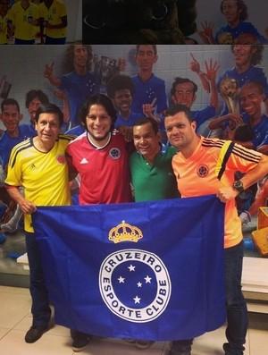 De passagem por BH, colombianos fazem visita à sede do Cruzeiro