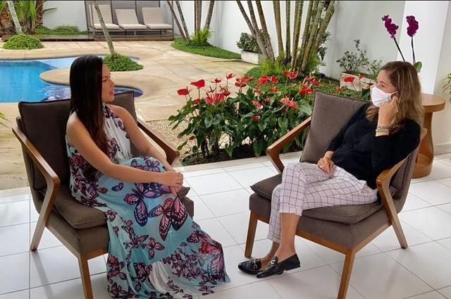 Juliette conversa com Lilia Teles no 'Globo repórter' (Foto: Divulgação)