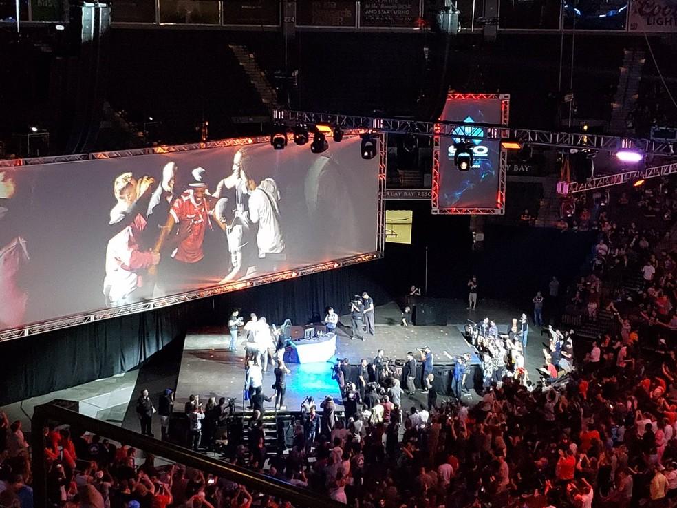 Evolution 2018 de Street Fighter V teve quase US$ 85 mil (cerca de R$322 mil) em premiações — Foto: Reprodução/Twitter MrWiz