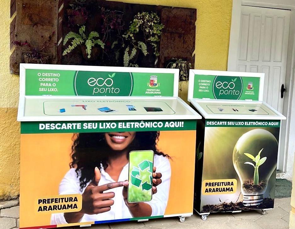 Ecopontos para descarte de lixo eletrônico são instalados nos cinco distritos de Araruama, no RJ
