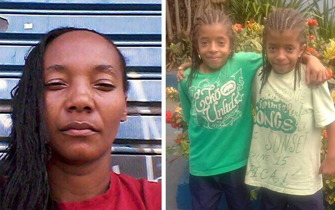 Selma Almeida da Silva e os dois filhos gêmeos estão desaparecidos