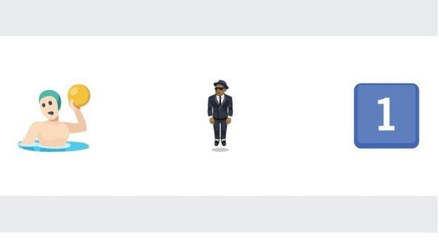 Pessoa jogando polo aquático, homem de terno levitando e o número 1 são alguns dos emojis menos usados no Facebook (Foto: Facebook)